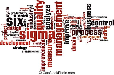 Six sigma word cloud concept. Vector illustration