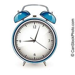 illustration of alarm clock on isolated white background