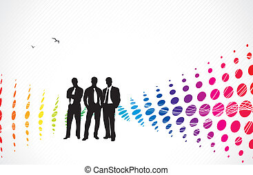 business people - Illustration of business people and...