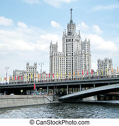 Moscow Highrise building on Kotelnicheskaya quay 2011 -...