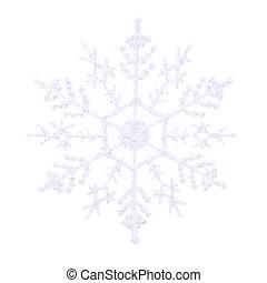 White glittery snowflake - Single white glittery snowflake...