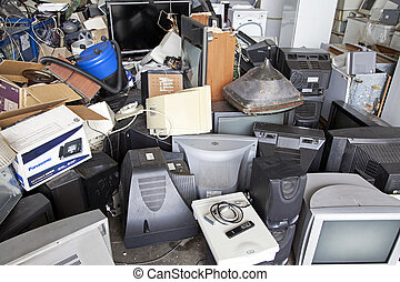 Electronic waste - RUZOMBEROK, SLOVAKIA - APRIL 25:...