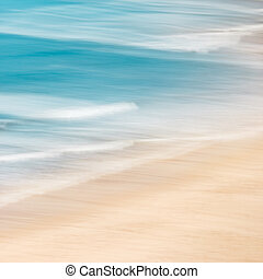 Beach and Surf - California surf and sand with panned motion...