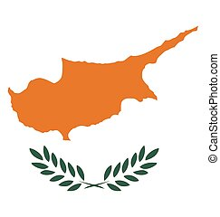 Cyprus Flag - Flag of the Republic of Cyprus overlaid on...
