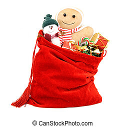 Gift bag of toys - Santa's gift bag full of toys and gifts...