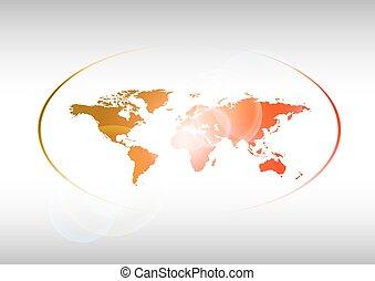 mundo, rojo