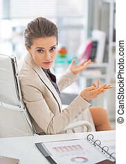 Business woman discussing in office