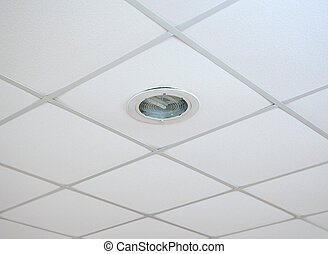 Suspended ceilings - Texture of white panels for suspended...