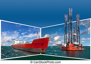Frame with offshore industry - Generic concept Oil Rig and...