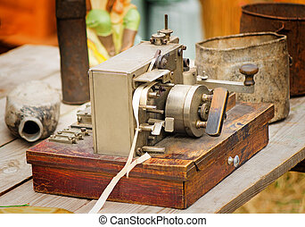 Old Telegraph the beginning of the last century. - Ancient...