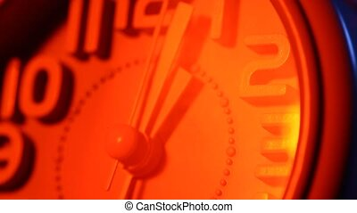 Clock Face Ticking - Close up of a modern analogclockface...