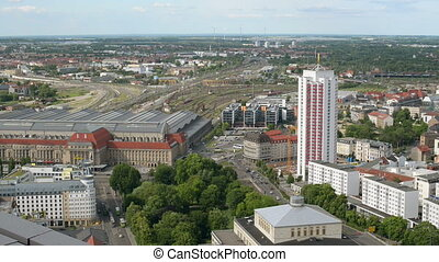 aerial leipzig germany 11398 - An aerial shot from Leipzig,...