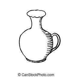 vase, sketch vector illustration