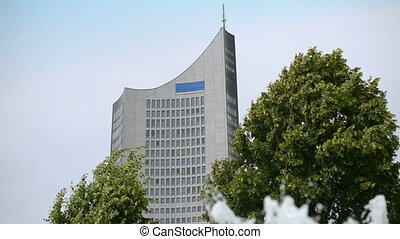 germany leipzig skyscraper 11435 - The old university tower...