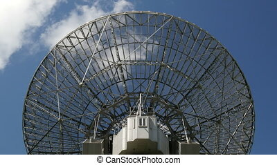 historic radio telescope cloud - A huge historic Radio...