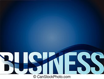 business text blue wave background illustration design