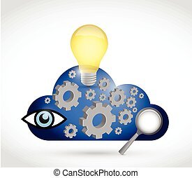 online brainstorming concept illustration design