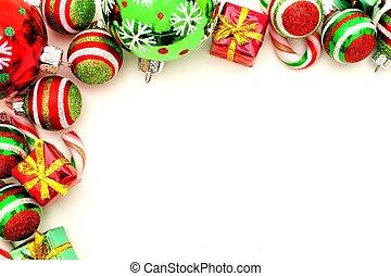 Christmas ornament border - Christmas corner border with...