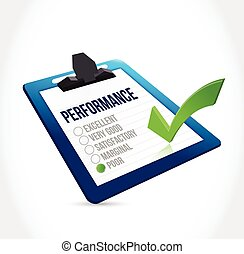 poor performance clipboard checklist