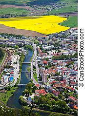 Town Ruzomberok, Slovakia - RUZOMBEROK, SLOVAKIA - MAY 10:...