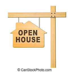 Real estate sign isolated.
