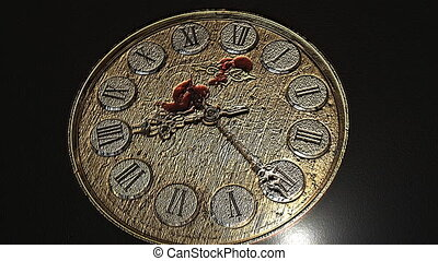 Watch Blood - blood dripping on a clock face. hour hands...