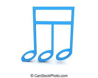 three dimensional colored treble clef