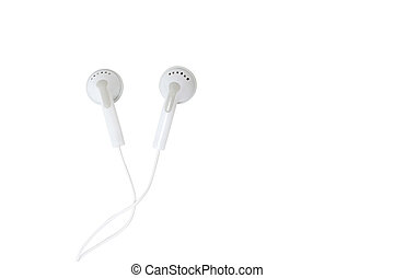 Ear buds isolated on white
