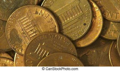 Pennies, Coins, Money, Currency