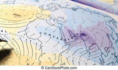 World?Map - Close up of a detailed?world?map?