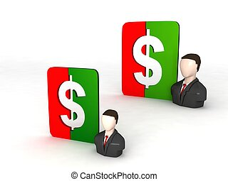 businessmen with dollar sign