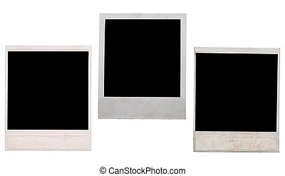 polaroid frame isolated on white