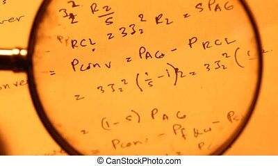 MathematicalBackground - Close up of a mathematicalcontent...