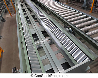 Conveyor for transporting the plant