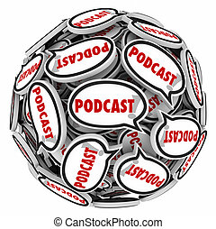 Podcast Speech Bubbles Sphere Audio Program Interview Mp3