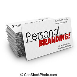 Personal Branding Business Cards Advertise Services Company...