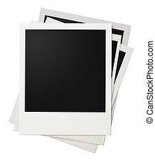 marcos, foto,  polaroid, Pila, aislado