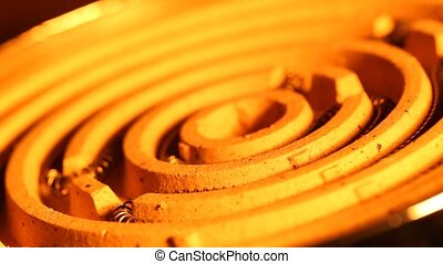 Heating Element - Close up of an Industrial heating element...