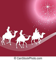 Three wise men silhouette - Illustration of three wise men...