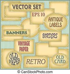 Old Paper Labels