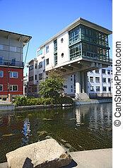 Modern buildings - Modern house in Va�stra Hamnen, Malmoe,...