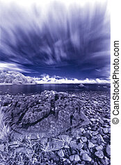 Ag Dul - infrared shot from the banks of Lough Corrib, Co....