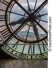 Clock in Orsay museum, Paris