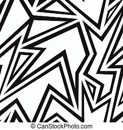 tribal monochrome seamless pattern