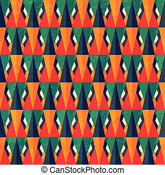 vintage bright triangle seamless pattern