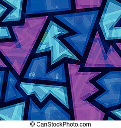 purple geometric seamless pattern with grunge effect