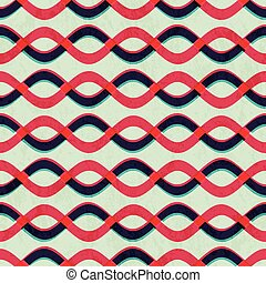 retro curved line seamless pattern with paper effect