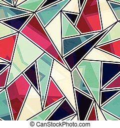 triangle mosaic seamless pattern