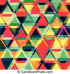 hipster triangle seamless pattern with grunge effect