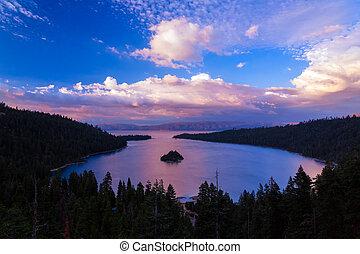 Emerald Bay - Sunset over Emerald Bay, Lake Tahoe